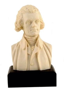 "Thomas Jefferson Bust in White (6"")"
